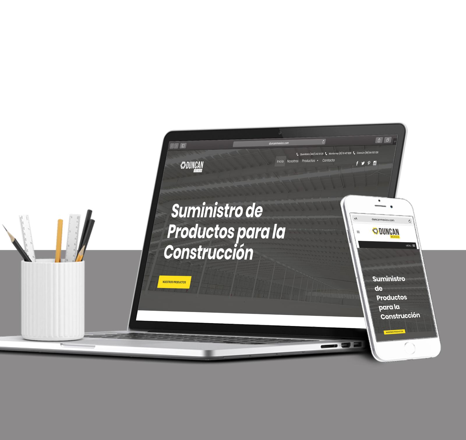 Diseño de sitio web Duncan