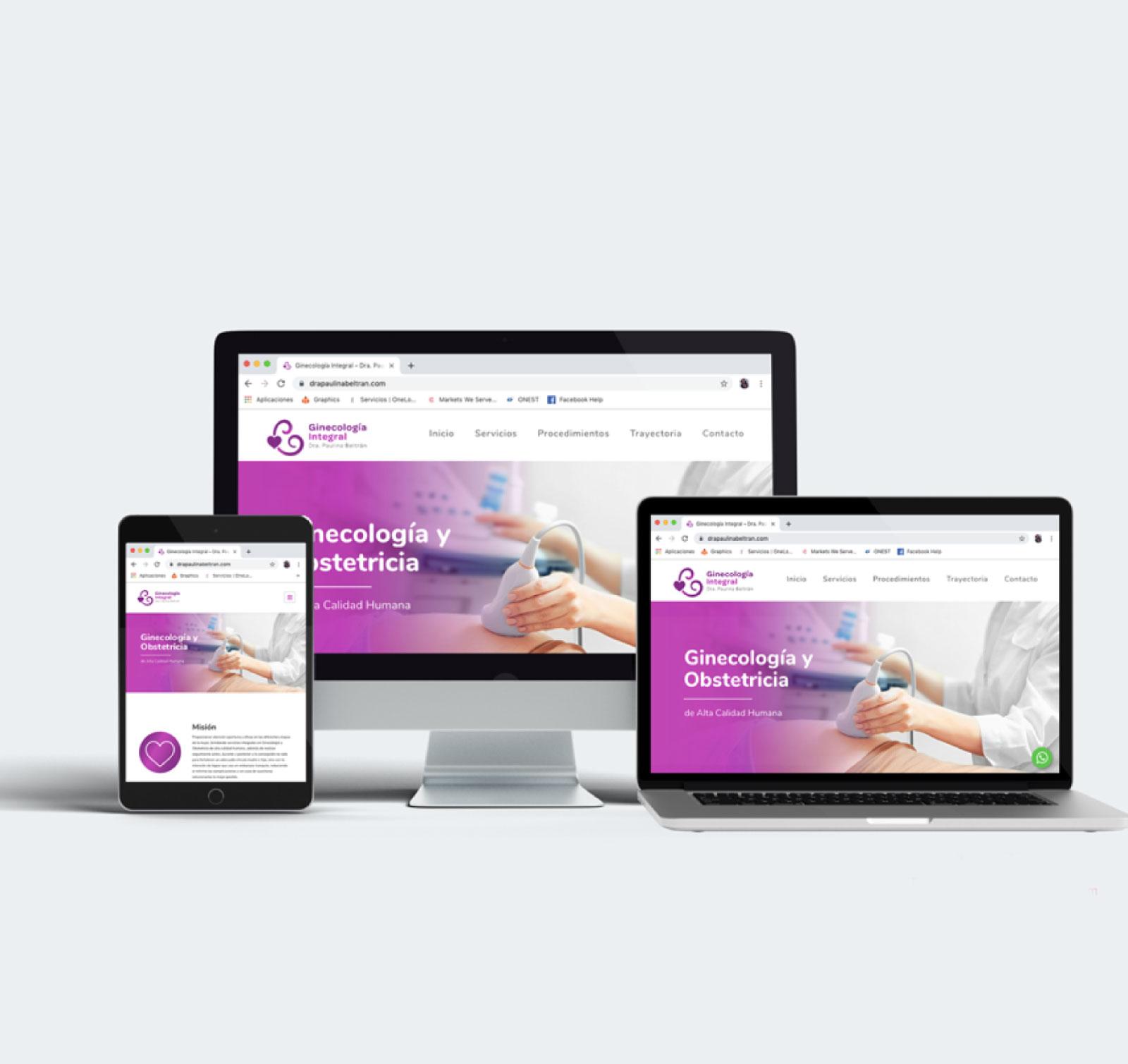 Sitio Web Ginecología Integral