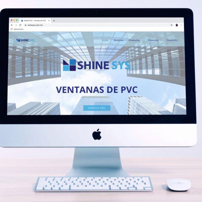 Diseño de Sitio Web Shine SYS