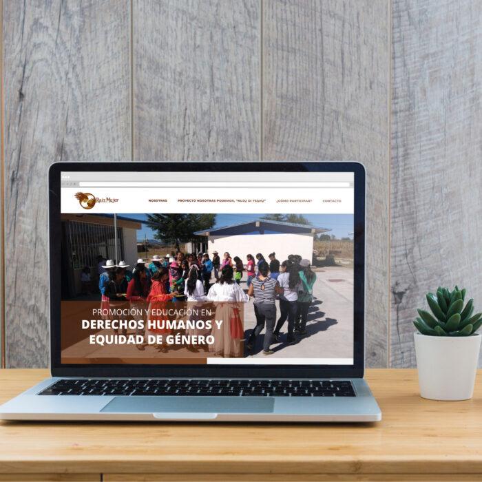Diseño de sitio web Raíz Mujer