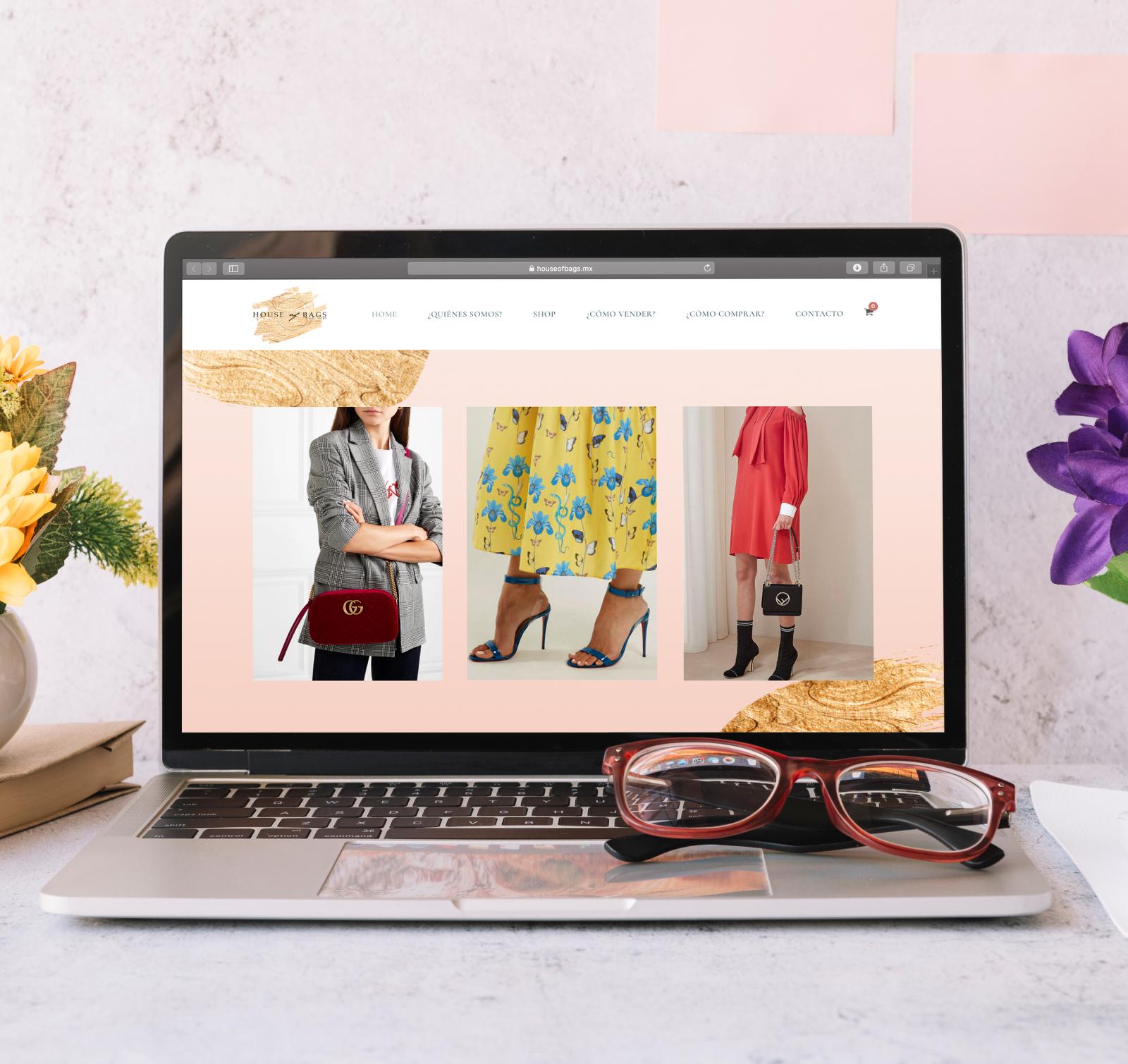diseño de sitio web house of bags